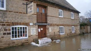 Flooding at the Woodford Mill tea room