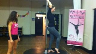 St Giles in the Wood pole dancing
