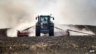 Tractor at work in Romania - file pic