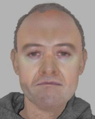Police e-fit of suspect in Basildon rape