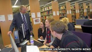 Bill Bryson opens Durham University library