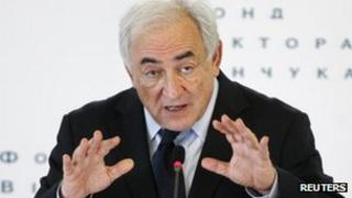 Dominique Strauss-Kahn in Kiev, 4 April 2012