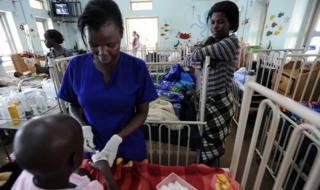 A ward at the Uganda Cancer Institute