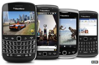 Blackberry handsets