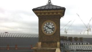 Kings Cross Station clock tower
