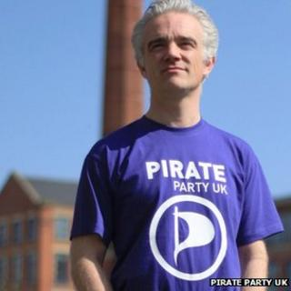 Loz Kaye of the Pirate Party UK