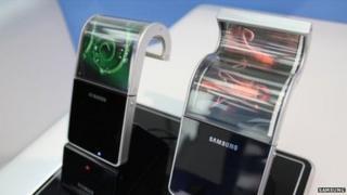Samsung flexible phones prototypes