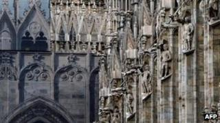 Detail of Milan's cathedral, the Duomo