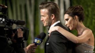 David and Victoria Beckham at the 2012 Academy Awards