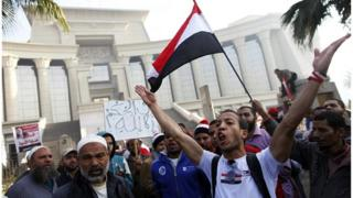 Egyptian protesters