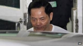 Wan Kuok-koi leaves Macau prison. Photo: 1 December 2012