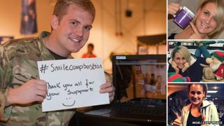 Cpl Sam Garwood in Afghanistan and images of Zoey Peace from her blog