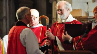 Nick McKinnel with the Archbishop of Canterbury