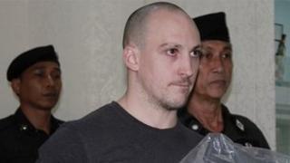 Lee Aldhouse arriving in Thailand
