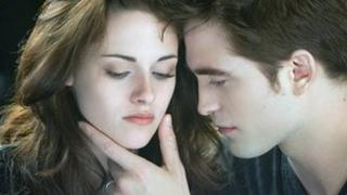 Kristen Stewart and Robert Pattinson in The Twilight Saga: Breaking Dawn