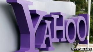 Yahoo sign outside its headquarters