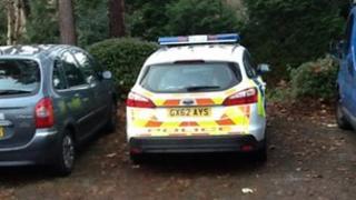 Camberley murder scene