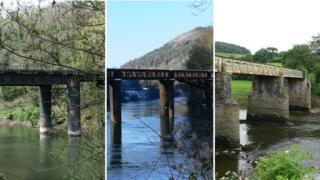 Three bridges over the River Wye being looked at by engineers