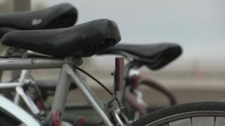 Saddles on bikes