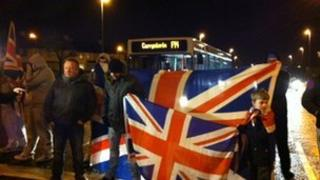 Loyalist protest in Londonderry