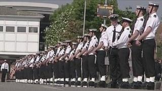 Royal Navy personnel at HMS Collingwood