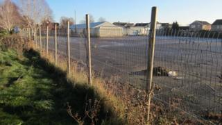 The site of the planned Tesco store in Churchdown