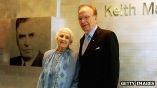 Dame Elisabeth Murdoch with her son, the media magnate Rupert