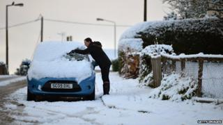 Snow shuts schools across southern England and Scotland