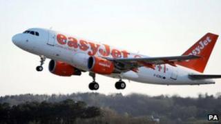 Easyjet plane. Pic: PA
