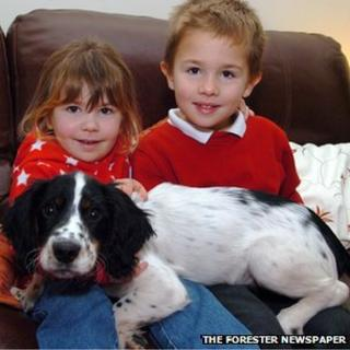 Buster with Charlotte and Oliver