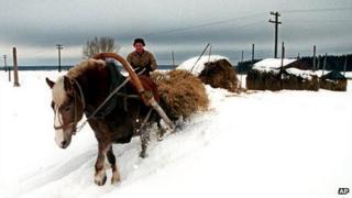 File photo of Russian farmer