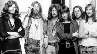 Early 70s Hawkwind with Huw Lloyd Langton (fourth from left)