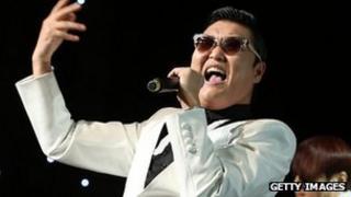 Psy performs at the Nokia Theatre, Los Angeles. 4 Dec 2012