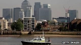 View of Canary Wharf