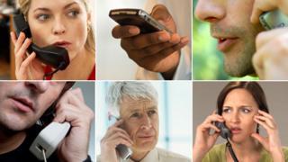 People on phone