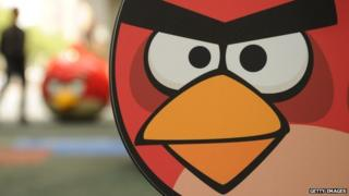 A bird from Angry Birds
