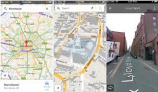 Google iPhone app screenshots