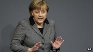 German Chancellor Angela Merkel in the Bundestag (13 Dec 2012)
