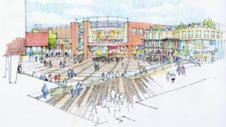 artist's impression of Basildon Council scheme