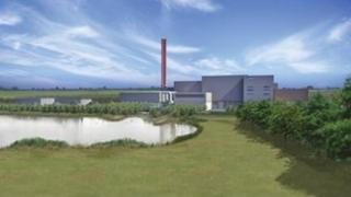 Artist's impression of the planned incinerator at Rookery Pit