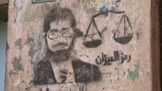 President Morsi stencil image