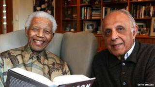 Nelson Mandela and Ahmed Kathrada