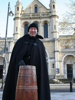 The Very Reverend John Mann is due to end his charity sit out