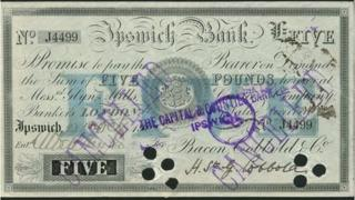 Ipswich Bank £5 note