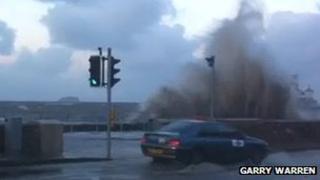 High tides in Weston-super-Mare