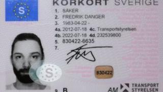 Fredrik Saker's driving licence