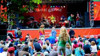 Crowds gather at the Womad festival