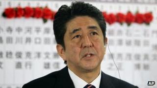 Shinzo Abe in Tokyo (16 Dec 2012)