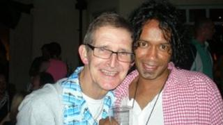 Michael Polding with Ricardo Pisano