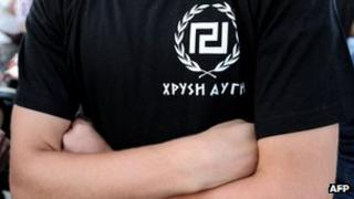 Golden Dawn supporter in Greece